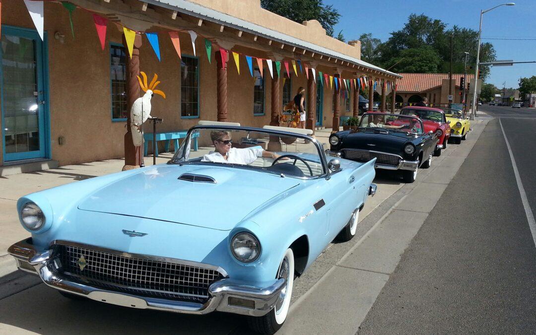 Pajarito Thunderbird Club parading thru Bernalillo New Mexico
