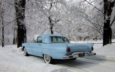 A beautiful January day in New England – Al Robinson's Starmist Blue '57 T-Bird