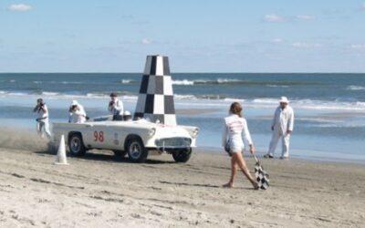My Battlebird on the Wildwood NJ beach in a recreation of its record run on Daytona Beach in 1957