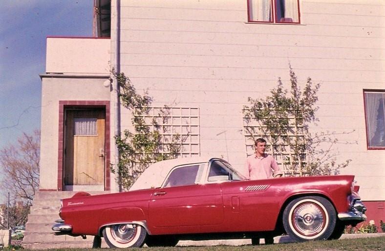 1965 and 2009 Same place, same car, same fellow.