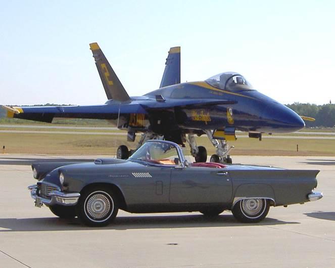 T-Bird with Blue Angel-4540e225